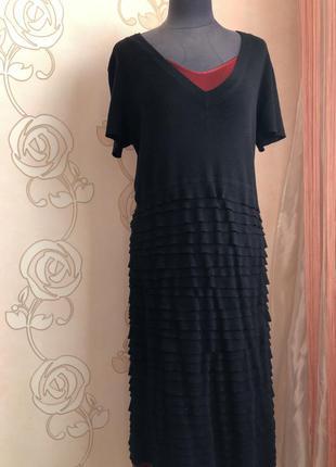 Escada ! отличное платье сарафан, натуральная шерсть в составе
