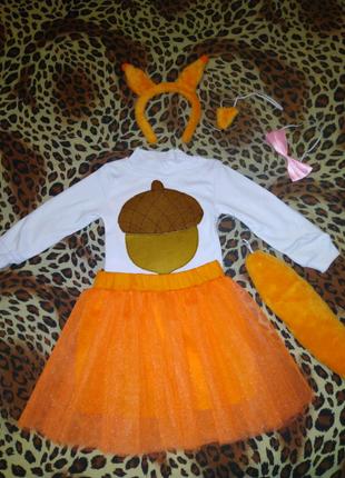 Костюм белочки ,лиса ,белка, карнавальные костюмы ,костюм белочки