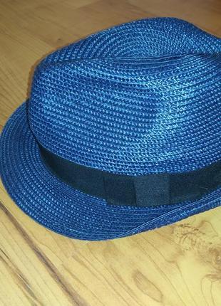 Детская соломенная гангстерская шляпа на 10-14 лет