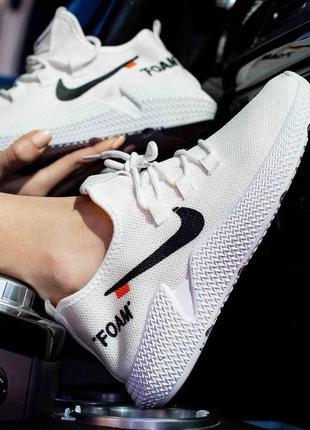 Распродажа!  белые женские дышащие кроссовки для бега или прог...