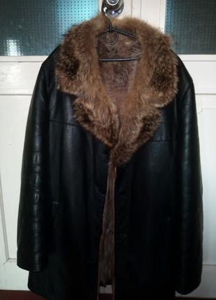 Курточка мужская кожаная (куртка чоловіча шкіряна)