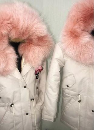 Детская парка с мехом зима/деми. Куртка-парка для девочки/маль...