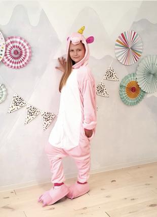 В наличии пижама кигуруми «единорог розовый»