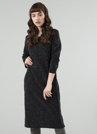 Стильное платье на каждый день season цвет меланж темно-синий