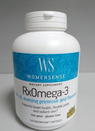Комплекс омега Natural Factors WomenSense RxOmega-3, 120 капсул