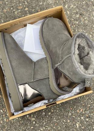 Ugg mini grey metallic 🆕 шикарные женские угги🆕 купить наложен...