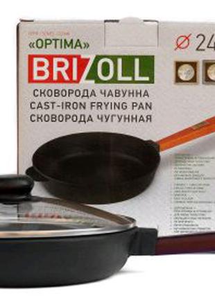 СКОВОРОДА Чугунная 24 см 2440-Р2-С ТМ ''BRIZOLL'' 240Х46.5 ММ