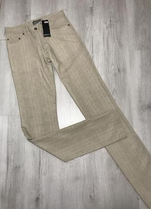 Серые мужские брюки semco в тонкую полоску 059 (34)