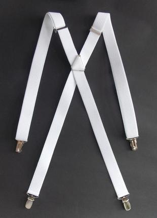 Белые женские подтяжки 25 мм (польша)