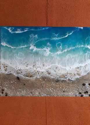 Море волны купить подарок картина эпоксидная смола resin art