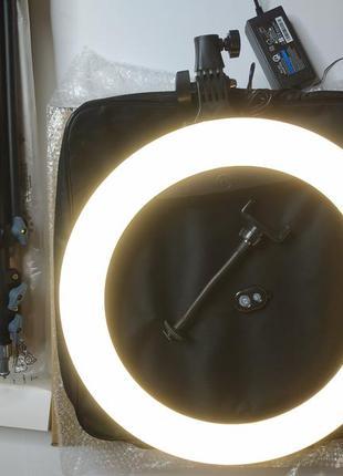 Мощная кольцевая led лампа 45 см / 65 вт