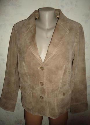 Куртка -пиджак замша