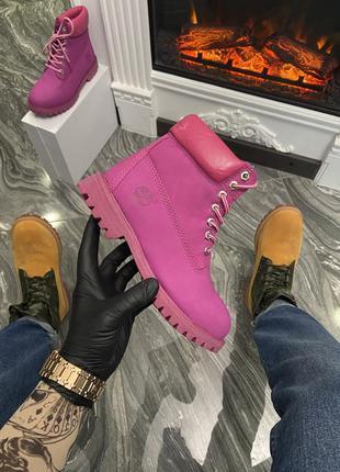 Ботинки  military pink (мех)