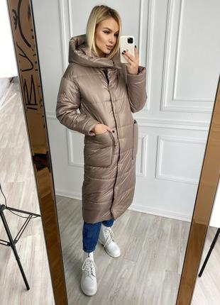 Куртка женская зимняя длинная 2054