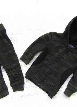 Комплект костюм кофта реглан  бомбер брюки штаны с капюшоном p...