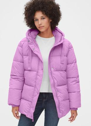 Теплая куртка пуховик oversize puffer оригинал  непромокаемая