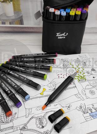 Фломастери Touch 48шт маркери