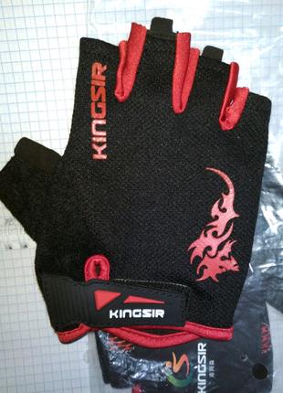 Вело перчатки велоспорт фитнес спорт с гелем качество. Размер XL