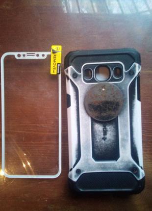 Чехол противоударный на Samsung j 5 защитные стекла