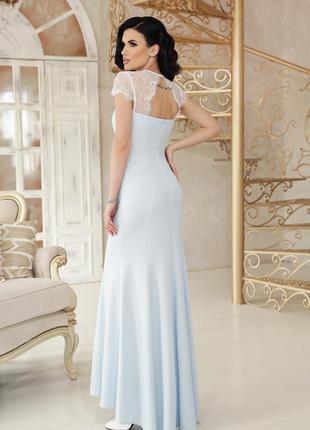 Голубое вечернее платье. распродажа