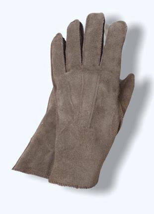 Мужские кожаные зимние перчатки мехом