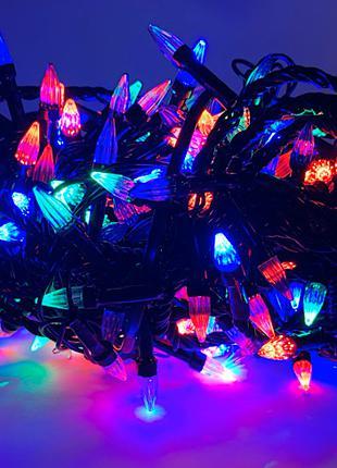 Гирлянда 300 LED конус mix