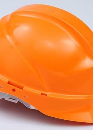 Каска защитная ЛУЧ  текстильное оголовье оранжевый