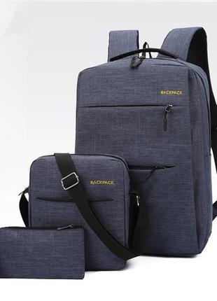 Школьный универсальный подростковый рюкзак с usb портом, сумко...
