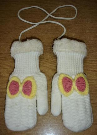 Тёплые перчатки на меху