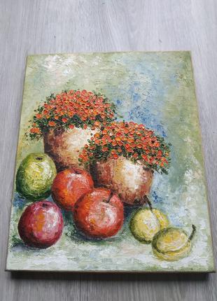 Картина маслом на дереве