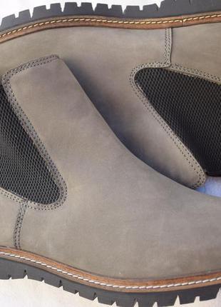 Кожаные зимние ботинки челси португалия р.42 27,5 см