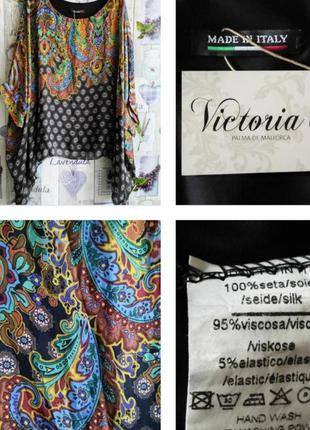 Яркая блуза в стиле бохо и рисунок песли из 100% шелка! италия!