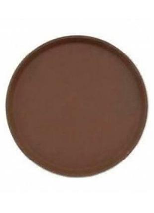 Поднос коричневый круглый 27,5см Cambro