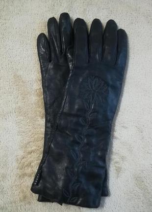 Оригинальные кожаные удлиненные перчатки gaucho. р. 7,5.