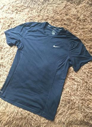 Мужская футболка nike dri-fit ( найк хлрр идеал оригинал черная)
