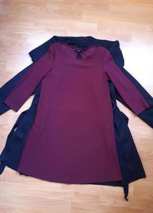 Свободное платье цвета марсал