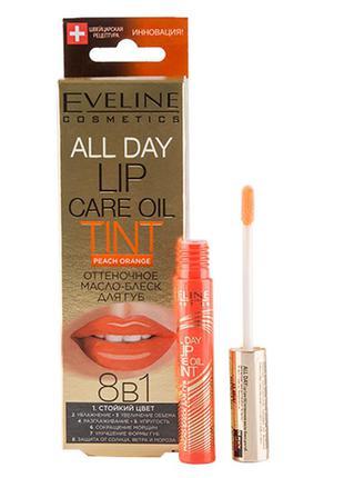 Tint оттеночный бальзам - блеск для губ peach orange