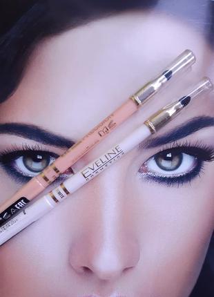 """Автоматический карандаш для глаз с растушёвкой """"белый"""" и """" све..."""