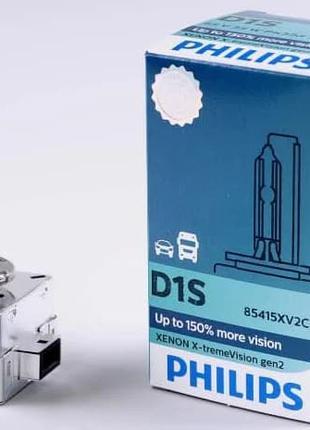 Ксеноновая лампа Philips X-treme Vision D1S 4800K 35W+50%(P22262)