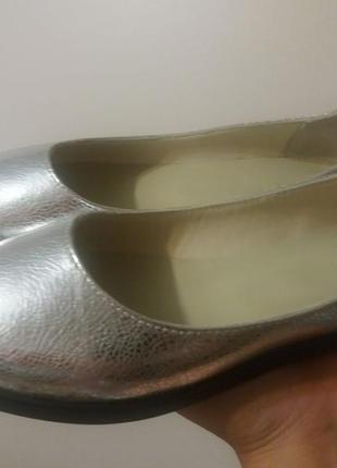 Новые кожаные балетки кензо-2, 38 размер. фабрика soldi.