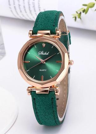 Часы женские наручные зеленые годинник