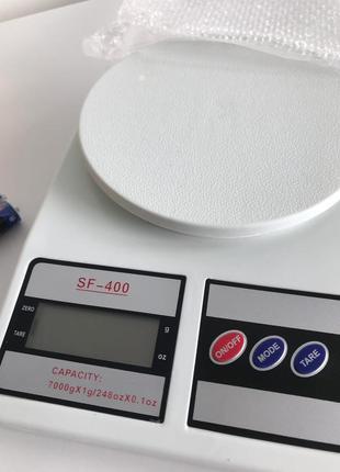 Весы электронные sf-400 7кг (1г), весы кухонные.
