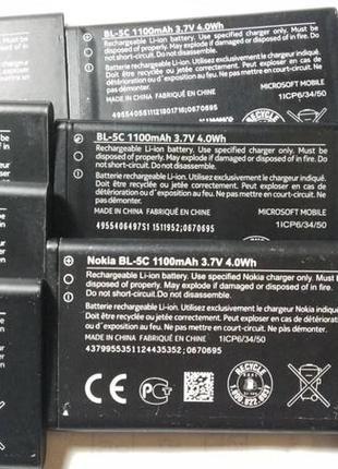Акумулятор-батарея-зарядне-NOKIA BL-5C BL-5CB BL-4UL original