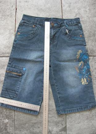 Джинсовые шорты urban для мальчика 11-12 лет