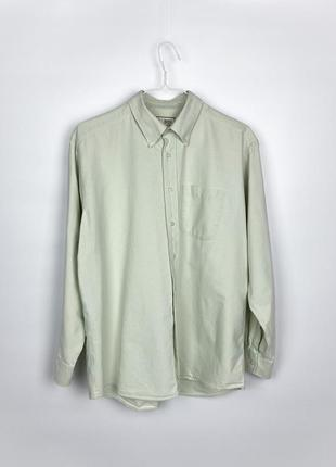 Рубашка m&s pure cotton oxford shirt - apple green