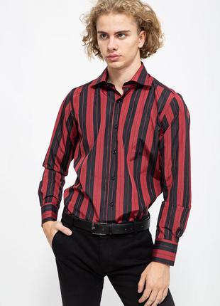 Рубашка мужская цвет бордово-чёрный