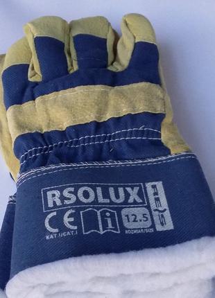 Перчатки спилковые комбинированные утепленные REIS RSO LUX