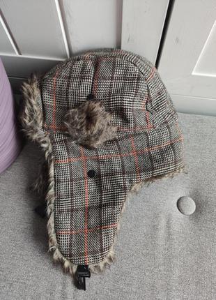 Мужская шапка ушанка от top secret