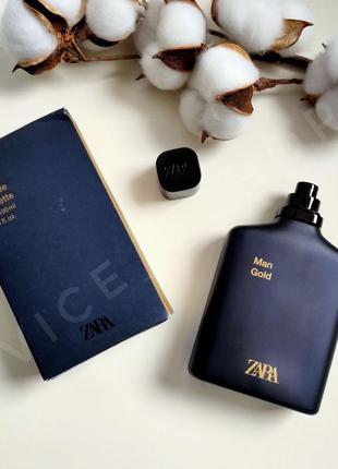 Zara man gold духи парфюмерия туалетная вода оригинал испания