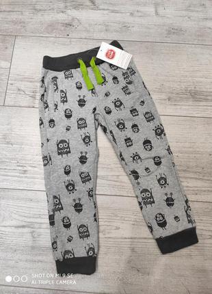 Спортивные штаны джоггеры утеплённые с начесом 110 cool club